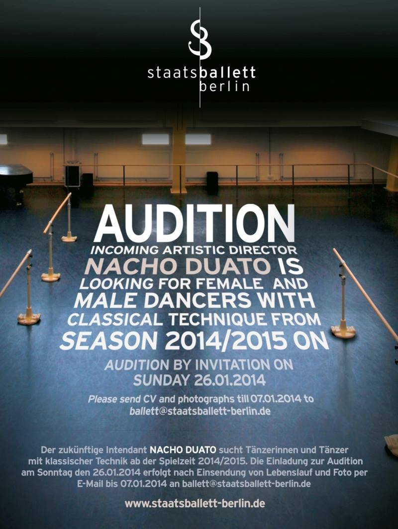 Nacho Duato conducts audition at the Staatsballett Berlin | BALLET20.COM